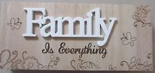 FAMILY Is Everything WOODEN BLOCK SIGN PLAQUE FREESTANDING HOME MOTHERS DAY GIFT