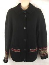 Field Gear Cardigan Sweater 100% Shetland Wool Button Front Size Small