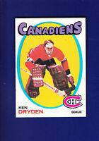 Ken Dryden RC HOF 1971-72 TOPPS Hockey #45 (NM) Montreal Canadiens