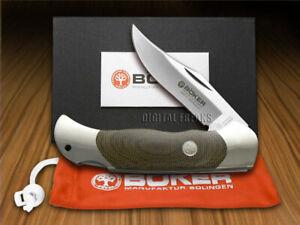 Boker Tree Brand Optima Lockback Knife Green Canvas Micarta 113005