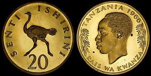 TANZANIA 20 SENTI 1966 (PROOF) *ONLY 5,500 MINTED*