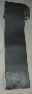 Scrap Leather Genuine cowhide Charcoal Gray  1 piece 66 x 3 inches New