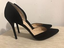 Stuart Weitzman  black suede stilletto pumps pointy toe sz 9.5