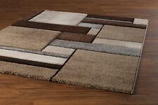 Teppich Wohnzimmer Kurzflor Webteppich geometrische Muster 120x170 cm BRILLIANCE