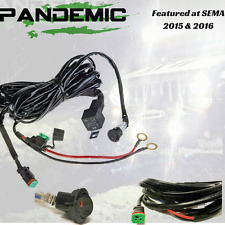 Pandemic LED Light Bar Harness 12V 40 Amp Fuse Relay Rocker Switch UTV OFFROAD