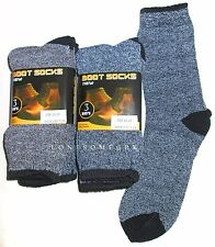 6 Pairs Mens Multi Color Moisture Wicking Dress Work Thermal Boot Crew Socks