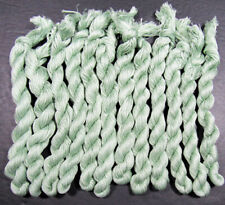 12x Needlepoint/Embroidery THREAD Hand-dyed Cotton Floss-sage-TX86