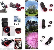 Objektive für Kamera Ziel Macro, Weitwinkel Fischauge IPHONE Samsung 3 in 1