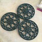 3X Vintage Cast Iron Trivets