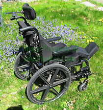 Sunrise Mobility Motion Concepts Quickie Space Tilt Wheelchair + Lots of extras