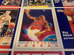 Michael Jordan WHEATIES Cereal Box Fleer 91 Basketball Uncut Sheet 9 Cards #6