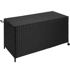 Rattan Auflagenbox Alu Gartenbox Gartentruhe Kissenbox Garten Box rollbar schwar