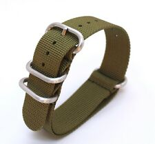 Khaki/Army Green Nylon Nato style  Watch Strap 22mm - will fit Seiko/Omega/Rolex