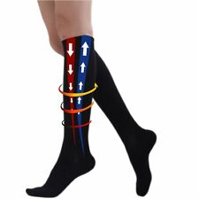 Flight Socks Mens Womens Unisex Travel Compression Anti Swelling DVT Support New