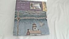 """Lighthouse 18"""" x 18"""" Pillow Cover, Tapestry Pane Print, Zip, NEW, Brown Back"""