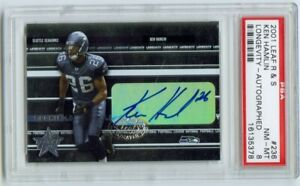 2003 Leaf R&S Autograph  KEN HAMLIN Seahawks ARKANSAS Razorbacks RC PSA 8 9/25