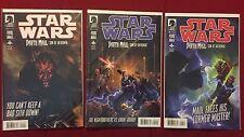 Dark Horse Star Wars Darth Maul Son of Dathomir Near Complete 1 2 & 4 VF/NM HTF