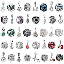 925 Silver Dangle Charms Bead Pendant Fit European Sterling Bracelets Necklace