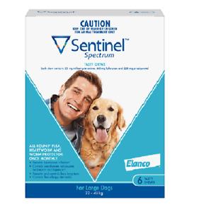 Sentinel Spectrum For Dogs Large 6 Pack Blue 22kg-45kg 6 PK