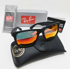 Ray-ban Justin Model 4165 622/6Q 54mm Matte BLK/Red Mirror Polarized Sunglasses