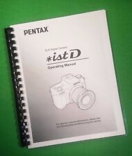 Laser Printed Ricoh Pentax iSt-D Camera 164 Page Owners Manual Guide
