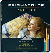 NEW Prismacolor 24 Premier Verithin Colored Pencils Assorted Artist Quality Hard