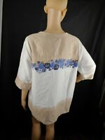 Soft Surroundings Womens  Pullover Multicolor Top Blouse Sz PL. floral pre-owned