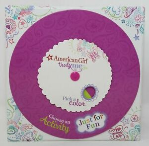 American Girl Truly Me Play Game Activity Spinner Card Advice Crafts Foods Fun