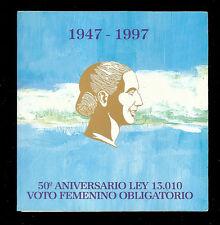 * Extra escaso * Argentina Blister monedas de 50 centavos de 2 pesos 1997 UNC-Eva Evita