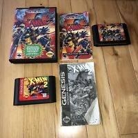 X-MEN 1&2 CLONE WARS Sega Genesis Game LOT OF 2! 1 Is Complete! TESTED Authentic