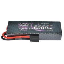 HRB 7.4V 6000mAh 2S LiPo Battery 60C-120C Traxxas for RC Car Slash 138*46*25mm