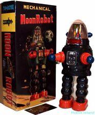 Robby the Robot Yonezawa Moon Robot Tin Toy Windup Repro Ltd. Edition-USA SELLER