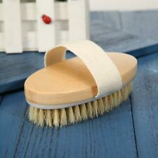 Natural Wooden Bristle Bath Shower Body Back Brush Scrub Exfoliate Body Massager