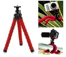 Per fotocamera Canon DSLR SLR Treppiede Flessibile Gorilla Octopus Supporto 1/4 Rosso