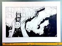 Comic Originalzeichnung | Lyndon Webb | HELLBOY PinUp BLAM!