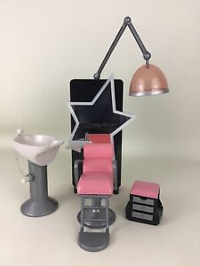 Bratz Stylin' Salon & Spa Playset Replacement Pieces Shampoo Bowl Chair Mirror