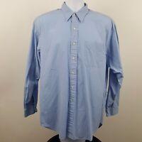 Polo Ralph Lauren Blue Chatfield Sport Mens L/S Casual Button Shirt Size Large L