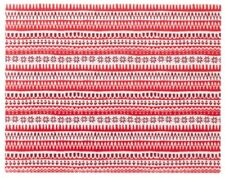 New IKEA Vinter 2017 Plastic Placemat 14x18 Christmas Red & White Stripe