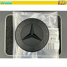 57mm für Motorhaube Ersatz Stern Emblem Vorne Emblem Schwarz MATT Mercedes-Benz