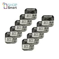 10 MAXELL 377 376 SR626SW BATTERIES SILVER 1.55V WATCH BATTERY EXP 2022 NEW