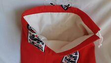 Handmade England Football Fabric Drawstring Backpack - Football / School / Toys
