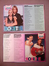 2x Bravo Songbook Roxette (1994) 90er (Crash Boom Bang + June afternoon Clipping