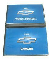 2002 Chevrolet Cavalier Factory Original Owners Manual Portfolio #12