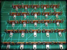 Terminal Strips, Brass Tin Dipped, 2 solder lug,  Lot of 25 (TS01)