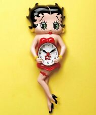 NEW BETTY BOOP LICENSED CHARACTER WALL ANIMATED CLOCK CARTOON HOME KITCHEN DECOR