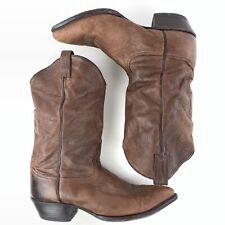 Tony Lama Cowboy Boots Men's 12 D Soft Brown Leather 5691