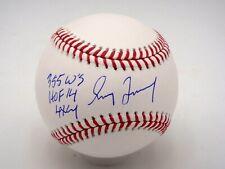 GREG MADDUX 4X CY, 355 W'S, HOF 14 STAT SIGNED MLB AUTHENTIC BASEBALL AUTOGRAPH