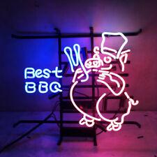 "Best Bbq Pig Pork 20""x16"" Neon Sign Light Lamp Beer Bar With Dimmer"