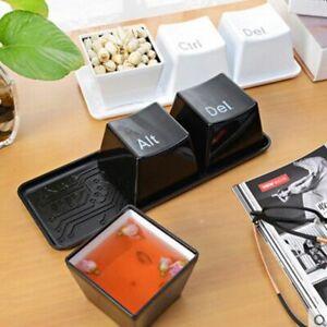 3pcs/set Creative Simple Keyboard Ctrl Alt Del Type Tea Coffee Mug Cup Container