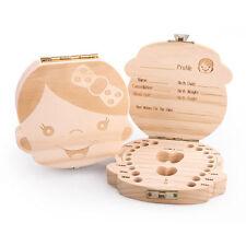 New Kids Boy&Girl Tooth Box organizer for baby Save Milk teeth Wood Storage Box